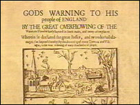 A pamphlet recording the 1607 disaster