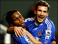 Didier Drogba (left) and Andriy Shevchenko