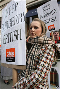 Delyth Barratt, 16, from Blaenrhondda, at the protest in London