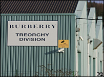 Burberry in Treorchy, Rhondda