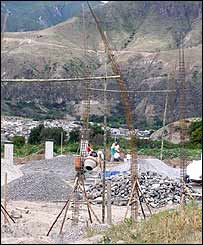 Construction of De La Cruz project in the Chota Valley