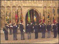 Devon and Dorsets colours at Exeter Cathedral