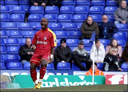 Leroy Lita celebrate after his first goal