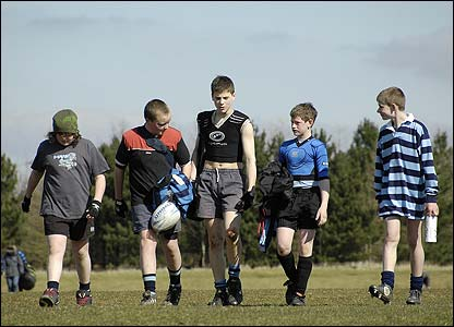 Mr JP De Vos' photo shows Supermarine RFC youngsters tired but happy