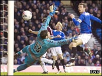 Barry Ferguson puts the ball in the net but was ruled offside