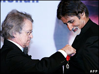 French Ambassador Dominique Gerard with Amitabh Bachchan