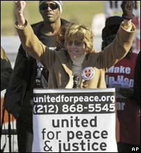 Jane Fonda at the rally