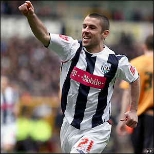 Phillips celebrates as West Brom take control