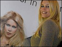 La supermodelo alemana Claudia Schiffer