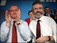 Gerry Adams and Martin McGuinness were branded traitors by republican dissidents