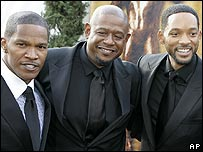 Jamie Foxx, Forest Whitaker and Will Smith at the Screen Actors Guild awards