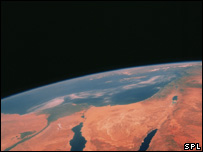 Space Shuttle photograph of the Sinai Peninsula