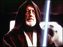 Alec Guinness, as Obi-Wan Kenobi in Star Wars