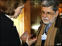 Susan Schwab y Celso Amorin