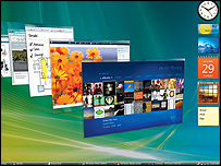 Vista desktop - aero interface