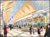 Artist impression of the interior of the planned arcade