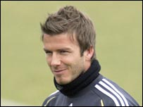Real Madrid's David Beckham will soon join LA Galaxy