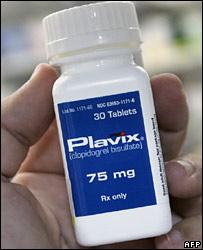 Plavix container