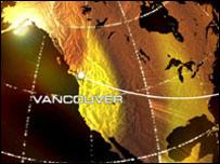 Ванкувер на карте (коллаж)