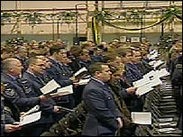 The memorial service for the RAF Nimrod crew