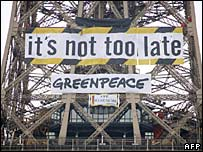 Protest banner. Image: AFP/Getty