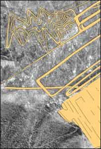 Mapeo aéreo de la figura de