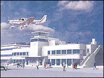 Artist's impression of the proposed development (from Shoreham Airport)