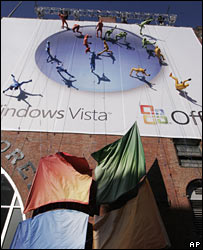 Microsoft performance to advertise Vista in New York