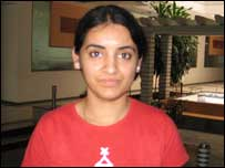 Megha Sani, graduate student, iiit-B, Bangalore