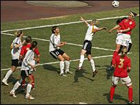England put pressure on Germany's goal