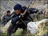 PKK rebels on exercises in mountains of northern Iraq