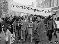 LSE students protesting in 1969