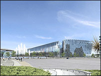 Artist's impression of the proposed Manchester casino