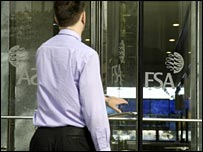 Man entering doors at FSA headquarters
