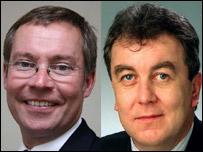 Mayor Nick Bye (l) and Adrian Sanders MP