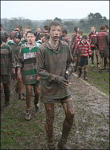 Mark O'Callaghan's shot features Lymm RFC players leaving the pitch victorious after a particularly muddy game