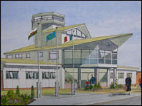 An architect's impression of West Wales Airport (picture: West Wales Airport)