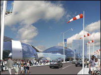 Artist's impression of the proposed Conference Leisure Centre, Blackpool