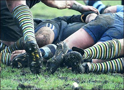 Guy Pedliham took this photo of feet in a ruck at his local club Esher RFC