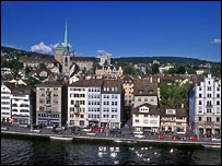 Zurich city centre (file image)
