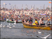 Boats at Kumbh