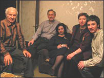 The Gurevicius family at their home in Vilnius