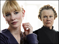 Cate Blanchett and Dame Judi Dench in Notes on a Scandal