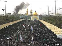 Iraqi Shia holy city of Karbala, burial site of Imam Hussein
