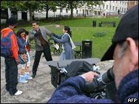 Rodaje de película india en Londres