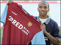 Aston Villa winger Ashley Young moved from Watford to Villa Park in a �9.65m deal