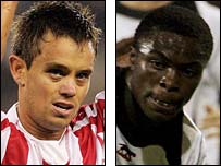 Lee Hendrie and Gabriel Zakuani
