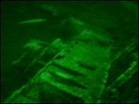 U-boat on seabed