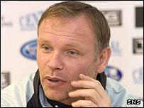 Falkirk head coach John Hughes