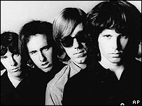 The Doors with Jim Morrison on the right